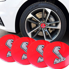 Car-styling 4pcs 56.5mm Car Steering tire Wheel Center car sticker Hub Cap Emblem Badge Decals Symbol For Ford Mustang(China)