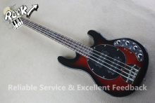 Excellent Feedback Music man Bass 4 Strings Guitar StingRay Ball Maple Neck China OEM Musical Instrument