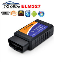 FREE SHIPPING ELM 327 Bluetooth Interface Latest Version V2.1 Code Reader Car Diagnostic Scanner ELM327 V2.1 BT For Android