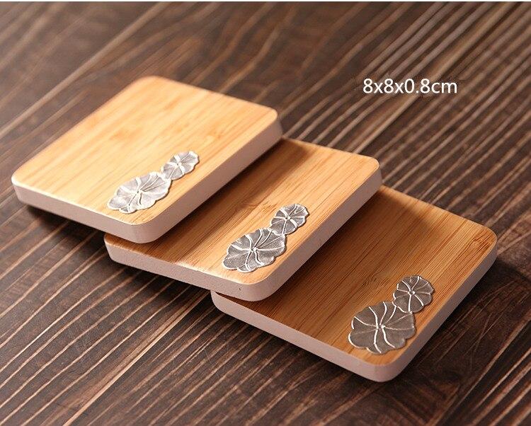 Bamboo Wooden Tea Cup Mat Coaster Kitchen Cup Bowl Holder Table TeaPot Mat