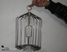 S Size Appearing Bird Cage Silver - Magic Tricks,Close-Up , Stage,Card,Mentalism,Magic Accessories