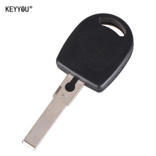 KEYYOU 10pieces/lot new arrive Blank Shell For Volkswagen (VW) B5 Passat Transponder Key (HU66) + with logo Free Shipping