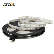 1Pcs 2835 / 3528 SMD Waterproof 5M LED Strip light DC12V Flexible RGB lamp Tape 60LEDs/M Decor Holiday Christmas Ribbon lighting