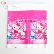 Party supplies 2pcs hello kitty theme party, birthday party decoration table cover one-off table cloth