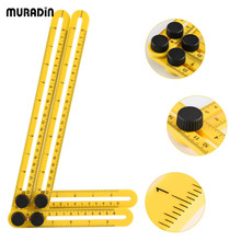 Multifunctional Angle Ruler Four-Sided Plastic Measuring Instrument Template Angle-izer Mechanism Slides Hand Tool for Handymen