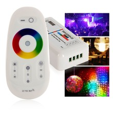 EDAL DC 15A RGB Led Controller 2.4G Touch Screen RF Remote Control For Led strip/bulb(China)