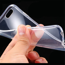0.3mm Slim Thin Crystal Clear Soft TPU Silicone Case For iPhone 7 7 plus 6 6S Plus 5 5S 4S Transparent Cover Shell Phone cases