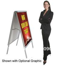 A-Frame Sidewalk Sign Graphic Display 24x33 Snap Frame Double Sided