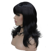 StrongBeauty Women's Wig Black/Red Long Curly Layered Hairstyles Hair Synthetic Full Wigs 5 Color(China)