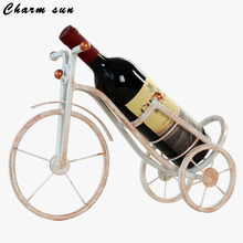Creative Iron Wine Rack Metal Tricycle Ornaments  Coffee Shop Special Home Furnishing Table Decor Decoration Living Room Cabinet