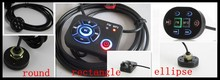 1pc Motorbike FM radio Motorcycle MP3 player cable audio wire control 2.5m with LED waterproof remote(China)