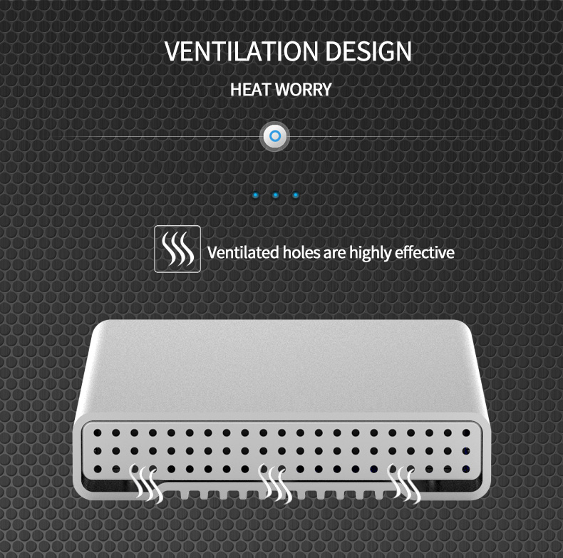 Aluminum external hard drive 1tb hdd case 2.5 type C sata to usb 3.1 hdd 2.5 caddy 9.5mm hdd enclosure with external hard disk (3)