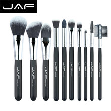 JAF 10 pcs Makeup Brushes Set Beginner Advanced Nylon Hair Make Up Brush Kits Portable Full Function Beauty Cosmetic Brush Tools(China)