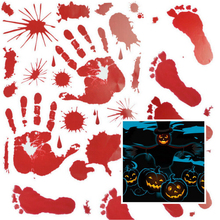 Pvc material Bloodstained wall stickers Halloween horror glass wall stickers simulation blood Party DIY decoration