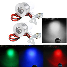Fashion car-styling LED 1 Pair 4 Color LED Day Spot Light Motorcycle Car Truck Bulb Lamp 12-85V
