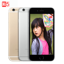Unlocked Apple iPhone 6 mobile phone Dual Core 16G/64GB/128GB ROM 4.7inch IOS 8MP Camera 4K video LTE 4G fingerprint Smart phone(China)