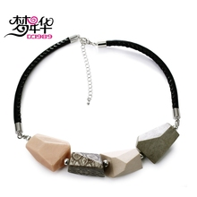 DreamCarnival1989 Summer Choker Necklace for Women Mix Colors Irregular Shape Resin Beads Linked Casual Cool Holiday Jewelry(China)