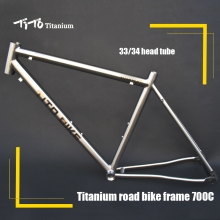 Free shipping !!! TiTo titanium road bike frame 700C titanium road bicycle outside line(China)