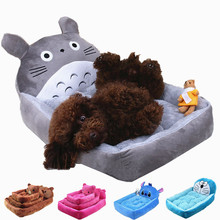 Flannel Pet Cat Dog Bed Mat Cartoon Soft Warm Fleece Puppy Cushion Kennel Winter Pet Dog House Washable S-XL 50
