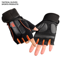 Long Wrist Belt Gym Fitness Gloves Crossfit Weight Lifting Gloves Men Musculation Women body building Barbell Dumbbell protect