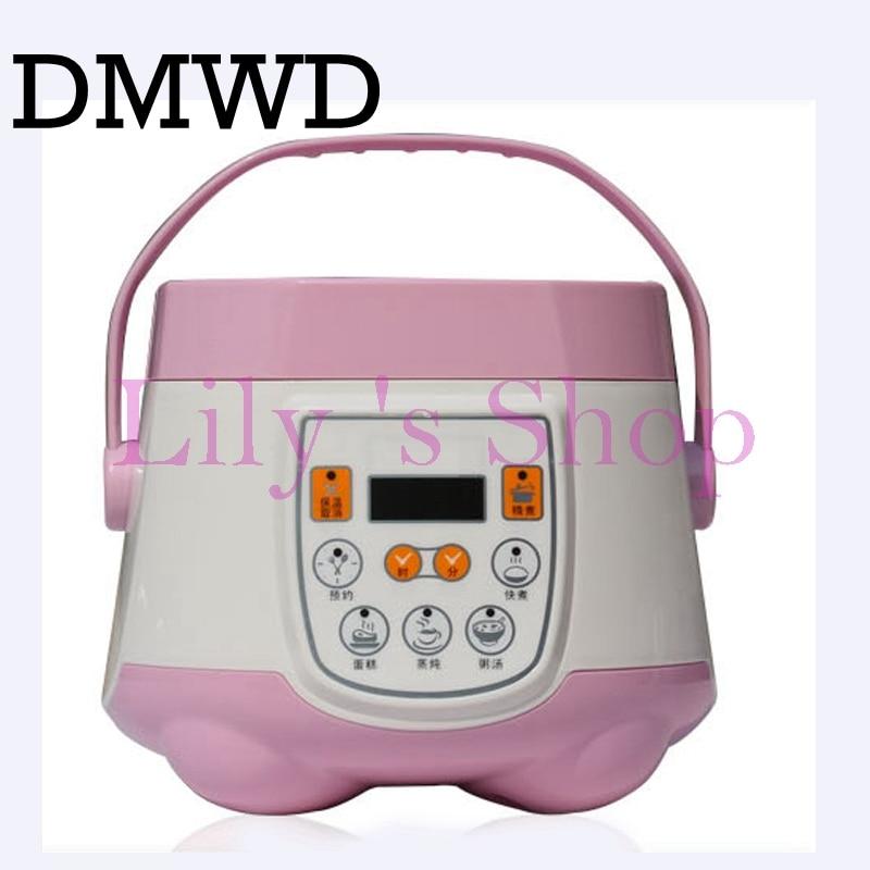 Multifunction rice cooker 1.8L smart mini electric rice maker steamer Reservation timing 110V aluminum alloy liner cook tool US<br>