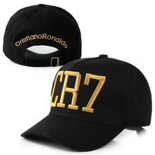 2016 Cristiano Ronaldo CR7 Black Blue Baseball Caps hip hop Sports Snapback Football hat chapeu de sol swag Men women