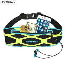 HAISSKY Sport Running Waist Pack Bag Wallet Pocket Case For iPhone X 8 7 Plus 6 6s 5s SE Xiaomi redmi oneplus 5 Samsung Note 8(China)