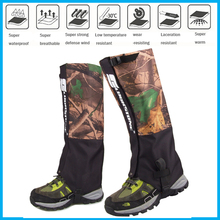2017 new  Waterproof Outdoor Hiking Walking Climbing Snow Legging Gaiters adult camouflage Gaiters travel kit shoe cover Hunting