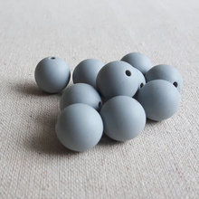 Food Grade silicone beads Light Gray 12mm 15mm Round beads 100% Safe for baby teething Jewelry Craft 20pcs