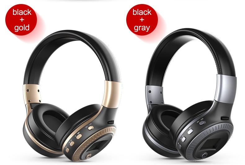 Zealot B19 Wireless Headphones LCD Display Screen HiFi Bass Stereo Earphone Bluetooth Headset with Mic + FM Radio + TF Card Slot 21