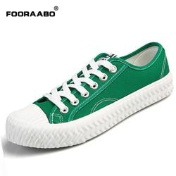 bf64c22fce6 FOORAABO Summer Men s Vulcanize Shoes Fashion Canvas Man Breathable Casual  Shoes Flats Korean Classic Retro Men Shoes