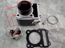 GN125 EN125 GS125 GZ125 GSX125 Upgrade GN/EN/GS/GZ/GSX150 150CC 62MM Motorcycle Cylinder Kits With Piston And 14MM Pin