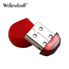 Fashion USB 2.0 mini Red Pendrive 4GB 8GB 16GB 32GB 64GB Memory Stick High speed USB Flash Drive small Pen Drive Free shipping(China)