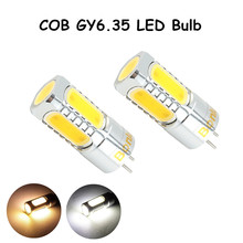 LED GY6.35 12V AC/DC Bulb Light 450lm 5 Watts COB Leds G6.35 Bulb Replace 35-50W Halogen Lamp for Crystal Chandelier Lighting