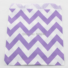100pcs Pick Your Colors Lilac Chevron Paper Favor Gift Bags,Wide Zig Zag,Cheap Small Buffet Candy Treat,Birthday Party,Wedding(China)
