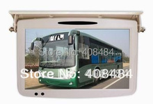 "19"" Car TFT LCD Flip Down Roof Mount Bus Monitor Retail/Pc Free Shipping"