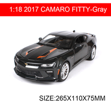 1:18 diecast Car 2017 CAMARO FIFTY Black Muscle Cars 1:18 Alloy Car Metal Vehicle Collectible Models toys For Gift