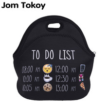 Jom Tokoy list emoji Thermal Insulated 3d print Lunch Bags for Women Kids Thermal Bag Lunch Box Food Picnic Bags Tote Handbags(China)