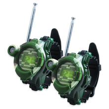 2 PCS Hot Selling Way Radio Walkie Talkie Kids Child Spy Wrist Watch Gadget Toy C0A51 S035