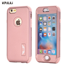 Original Brand Silicone Case for iPhone 6 6S Luxury Shockproof Hard PC Armor Hybrid Cover for Apple iPhone 6/6S/6 Plus/6S Plus(China)