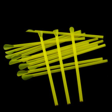 Creative Design 19cm Yellow Juice Drinking Straw Thicken Disposable Plastic Spoon Straws Valentine Day party supplies
