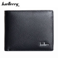 Baellerry New 2017 Genuine Leather Brand Men Wallets Design Short Small Wallets Male Mens Purses Card Holder Carteras,Hot Sale