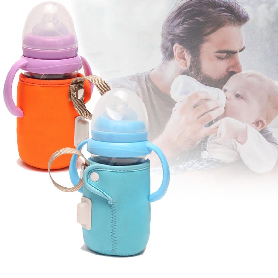 Protable Baby Feeding Milk Bottle Warmer Thermal Bag Travel Stroller Organizer