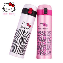 Hello Kitty Thermos Cup Stainless Steel Thermo Mug Bottle for water lady Vacuum flask straight cup home Leopard Portable Mug