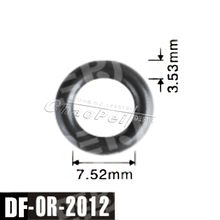 100 Pcs/lot Original 7.52*3.53mm Fuel Injector Viton Seal O-ring Auto Parts For Universal Cars Service Kit Factory DF-OR-2012