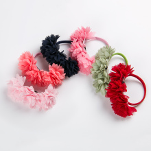 6 PCS Chiffon Flowers Children Baby Girls Hair Accessories Rubber Bands Barrettes Girl Headwear Bow