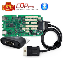 A+ high Quality Single Green board CDP TCS cdp Pro plus Bluetooth 2015.R3 Keygen software cars Trucks OBD2 scan Diagnostic tool