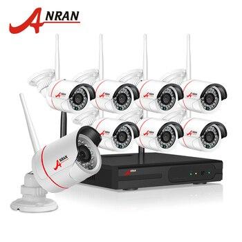 ANRAN Plug And Play 8CH Wireless NVR Surveillance Kit P2P 720P HD Outdoor IR Night Vision Security IP Camera WIFI CCTV System