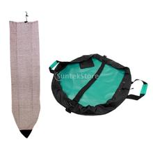 1 Set of 6ft Surfboard Striped Sock Cover + Surfing Wetsuits Changing Mat/Waterproof Dry Bag(China)