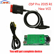 Lowest price NEC relays 5pcs/lot New VCI tcs cdp pro 2015 R1/2014.2 Diagnostic Tool CDP Pro Plus Test CAR TRUCK no Bluetooth DHL(China)